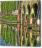 Treviso Canal And Reflections Canvas Print