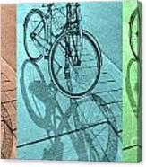 Tri-coloured Bicycle Print Canvas Print