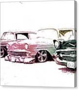 Tri Five Chevys Canvas Print