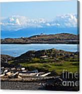 Trial Island And The Strait Of Juan De Fuca Canvas Print