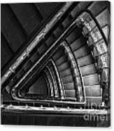 Triangle Staircaise In Bw Canvas Print
