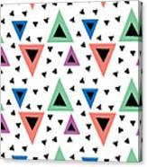 Triangular Dance Repeat Print Canvas Print