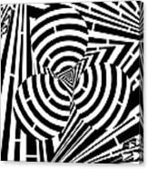 Triangular Spheres Maze Canvas Print