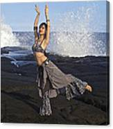 Tribal Belly Dancer Canvas Print