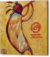 Tribal Ethnic My Red Kokopelli Canvas Print