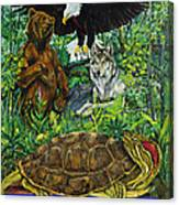 Tribal Gathering Canvas Print