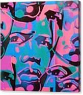 Tribal Graffiti Faces Canvas Print