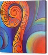 Tribal Koru Red Canvas Print