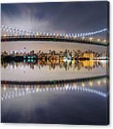 Triboro Bridge Panorama At Night Canvas Print