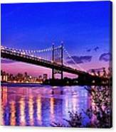 Triborough Bridge At Night Canvas Print