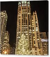 Tribune Plaza At Christmas Canvas Print