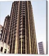 Tribune Tower Facade Canvas Print