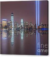 Tribute In Light Reflections Canvas Print