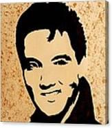 Tribute To Elvis Presley Canvas Print