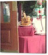 Little Italy - Rustic Door Canvas Print