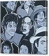 Tribute To Michael Jackson Canvas Print