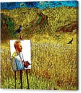Tribute To Vincent Van Gogh - His Final Days Canvas Print