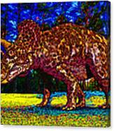 Triceratops Painting Canvas Print