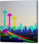 Tricolor Seattle Space Needle Canvas Print