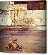 Tricycle In Abandoned Room Canvas Print