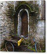 Tricycle Parked In Alleyway Canvas Print