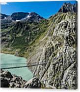 Triftsee Suspension Bridge - Gadmen - Switzerland Canvas Print