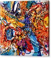 Trilul Pasarilor In Culori Canvas Print