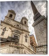 Trinita Dei Monti Church Canvas Print