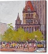 Trinity Bustle Canvas Print