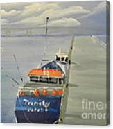 Trinity Long Line Fishing Trawler At San Remo  Canvas Print