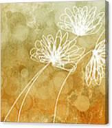Trio Abstract Flower Art  Canvas Print