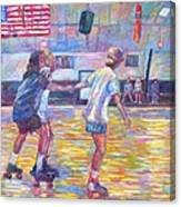 Trios At Dominion Skating Rink Canvas Print