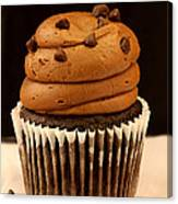 Triple Chocolate Cupcake Canvas Print