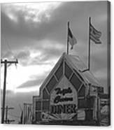 Triple Crown Diner In Black And White Canvas Print