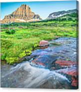 Triple Falls Stream Glacier National Park Canvas Print