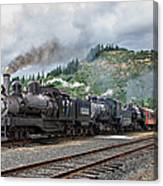 Triple Header In Color Canvas Print