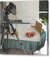 Tripod And Bowl Of Fruit Canvas Print
