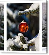 Triptych - Christmas Forest - Featured 3 Canvas Print
