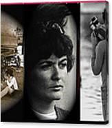 Triptych Jackie Sharkey Center Panel Cinco De Mayo Nogales Sonora 1969-2011 Canvas Print