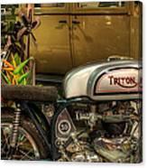 Triton Motorbike Canvas Print