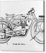 Triumph-bat 750c.c. Canvas Print