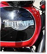 Triumph Motorcycle 5d28104 Canvas Print