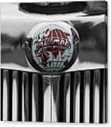 Triumph Roadster Emblem Selective Color Canvas Print