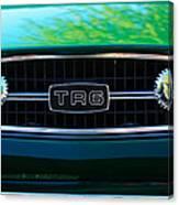 Triumph Tr 6 Grille Emblem Canvas Print