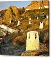 Troglodyte Caves Smokestack Canvas Print