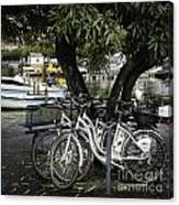 Trois Bikes Canvas Print