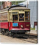 Trolley Car At The Fort Edmonton Park Canvas Print