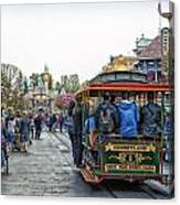 Trolley Car Main Street Disneyland 01 Canvas Print
