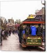 Trolley Car Main Street Disneyland 02 Canvas Print