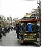 Trolley Car Main Street Disneyland 03 Canvas Print